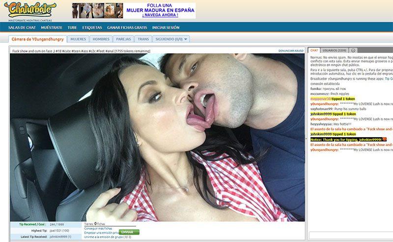 pareja para trabajar con webcam