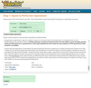 Como registrarse en Chaturbate